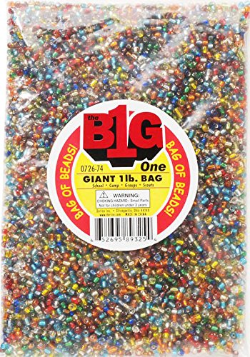 Darice Silver Lined Glass Seed Beads, 1 lb., (Bulk Seed Beads)