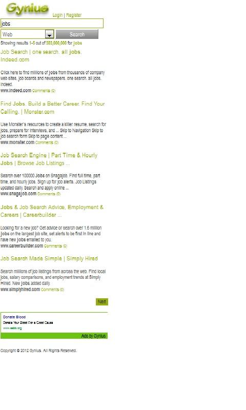 Gynius.com - New Meta Search Engine Rewards Network App ...