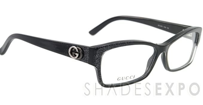 00102a2397d GG 1635 RT2 S.54 RX GLASSES BLACK WHITE PLASTIC EYEGLASSES AUTHENTIC .