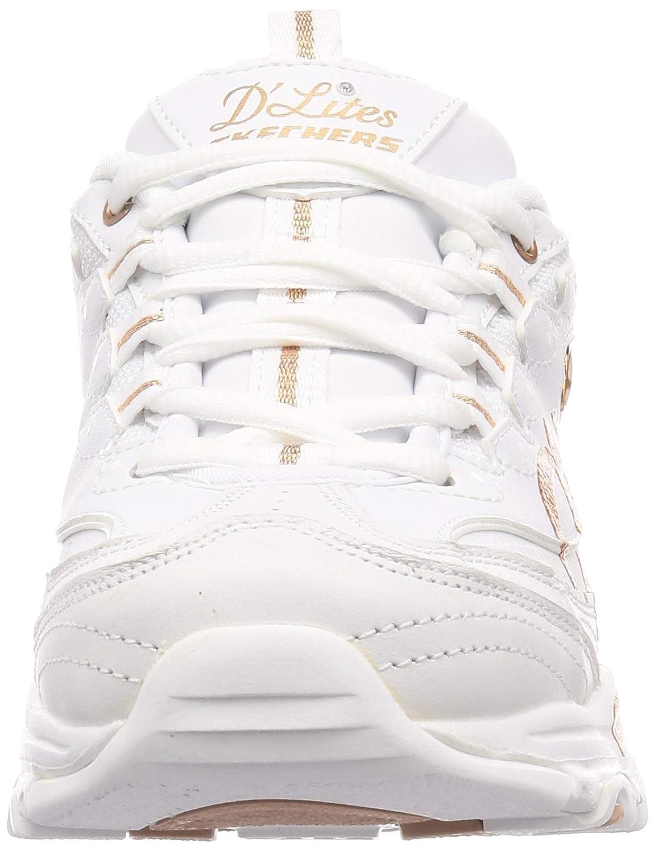 Skechers Damen D'lites Sneaker Weiß