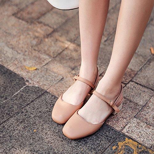 Pink di paio donne scarpe estivi delle parola con RUGAI in UE di i ritornano natura un da all'antica donna studenti scarpe gli sandali che Baotou zYSw1q8