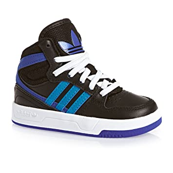 promo code e9957 56311 adidas Originals COURT ATTITUDE EI I Black Blue Leather Junior Sneakers  Shoes Amazon.co.uk Sports  Outdoors