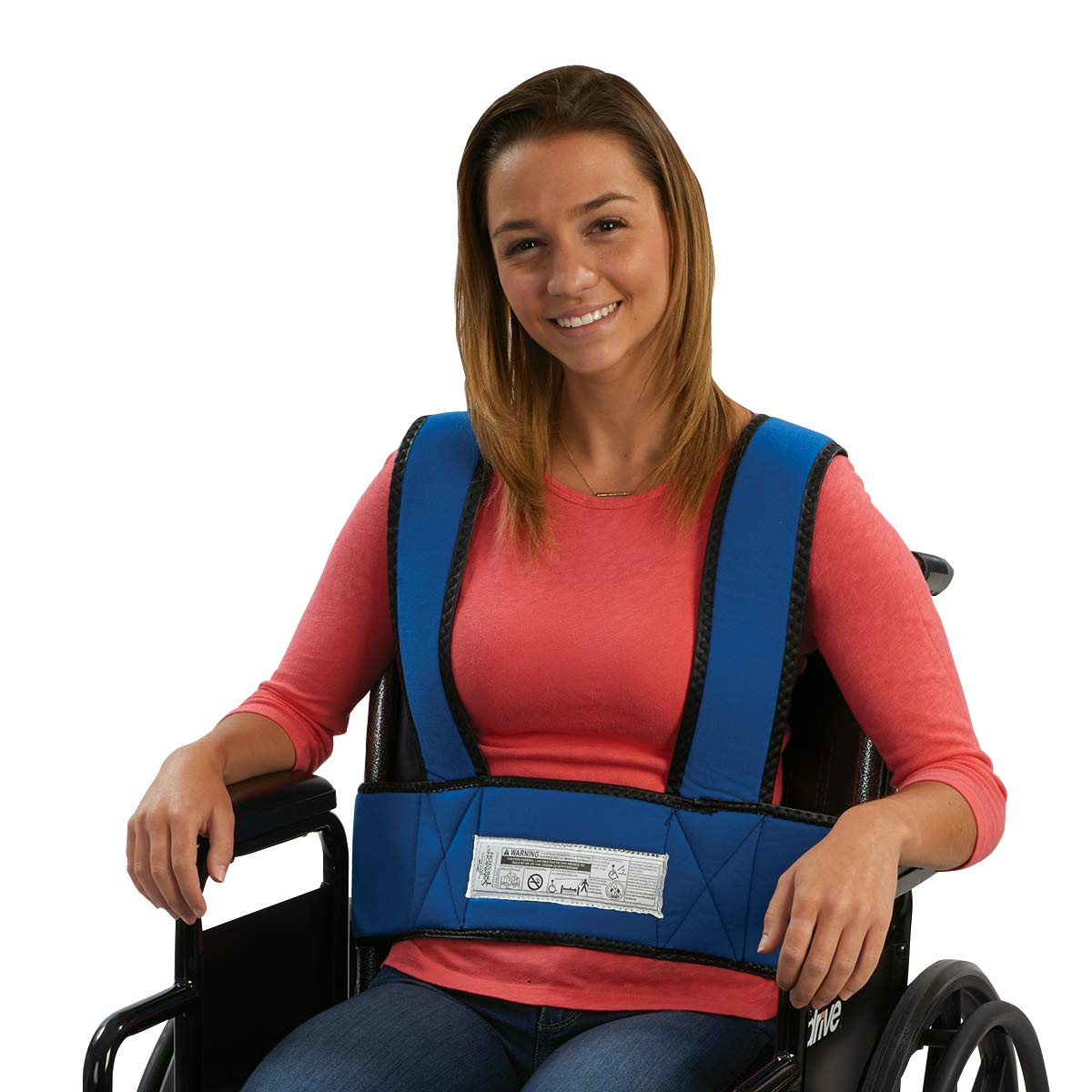 Sammons Preston Adult Foam Torso Support, Wheelchair Straps Hold User Upright to Promote Posture Alignment, Adjustable Chest & Waist Band Prevent Tilting or Falling of Elderly, Disabled, Handicapped by Sammons Preston