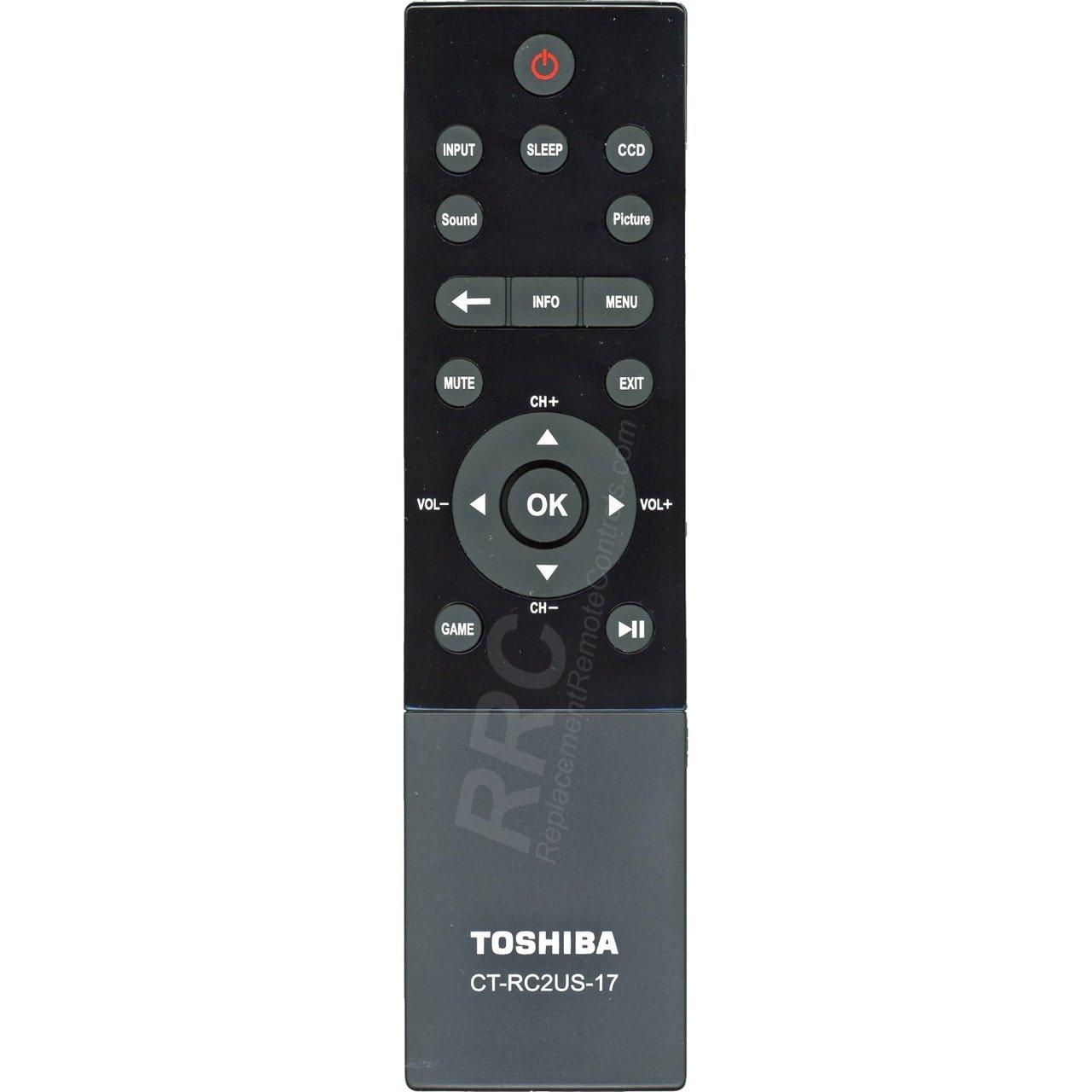 Toshiba CT-RC2US-17 LCD TV Remote Control for 32L221U, 43L621U, 49L621U, 55L421U, 55L621U, 65L621U Toshiba Electronics 4330254588