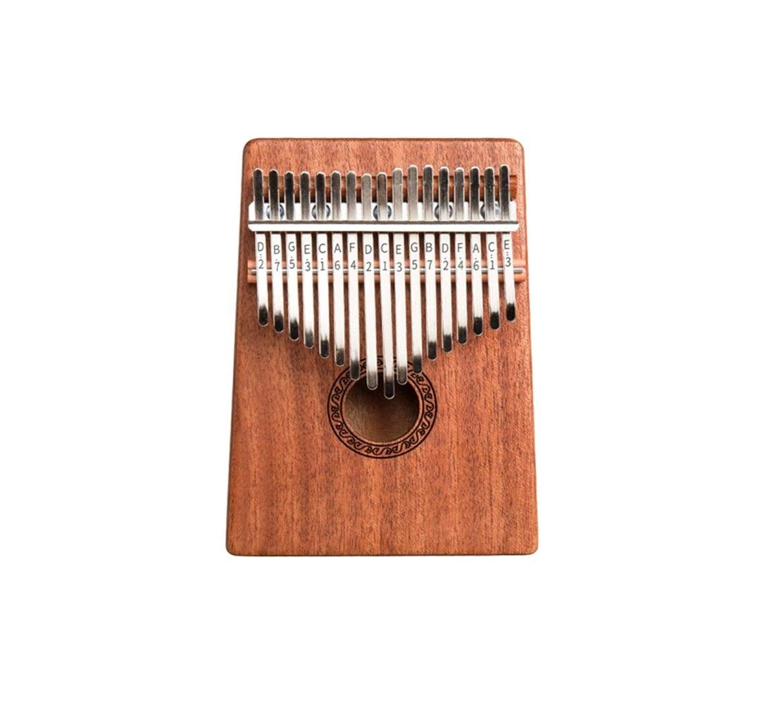 Qiyuezhuangshi Kalimba, 17-tone finger piano instrument, thumb piano, veneer blue adult professional playing beginner musical instrument Easy to use (Color : 2)