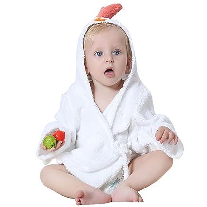amazemarket Unisex albornoz con capucha pijamas de baño Capa Túnica ...