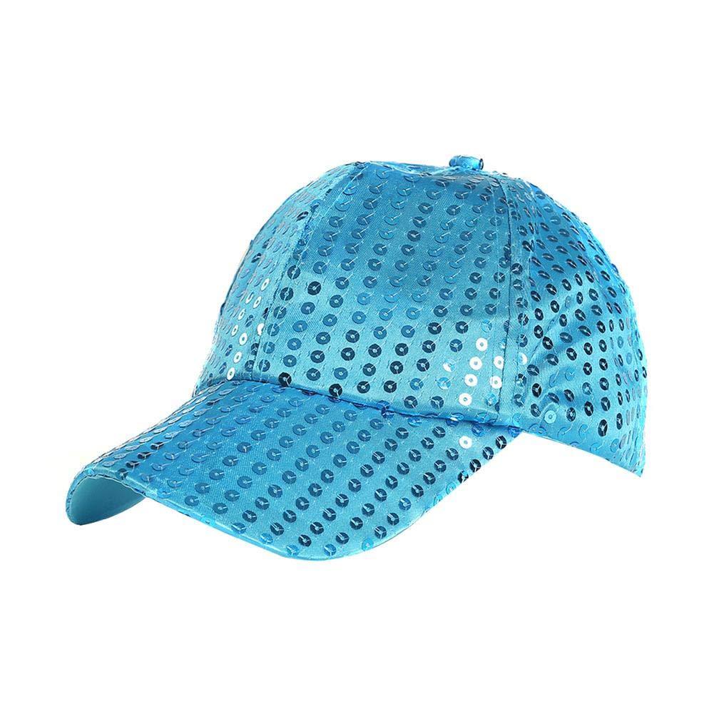 Shiny Sequin Baseball Caps Breathable for Duevin Women Adjustable Snapback Hat