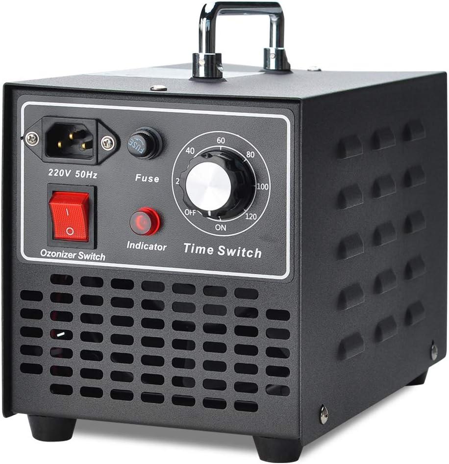 COVVY Generador de ozono comercial, máquina de ozono móvil Esterilizador de purificador de aire O3,para el hogar,cocina,oficina,hotel,automóvil,barco,restaurante,tienda(10000mg/h)