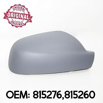 Tapa de espejo retrovisor lado derecho carcasa imprimado OEM 815276 815260: Amazon.es: Coche y moto