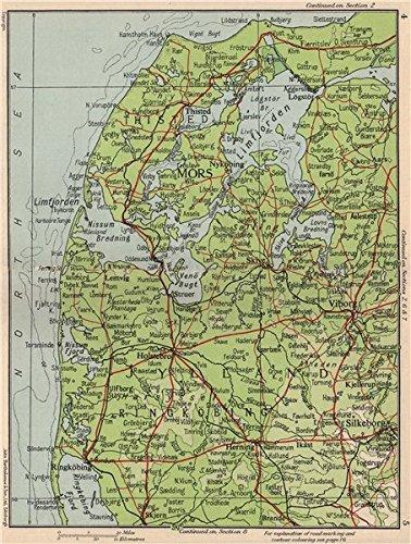 NORTH WEST JUTLAND. Viborg Ringkobing Mors Silkeborg Skive. Denmark ...