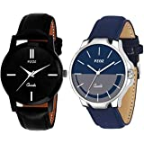 PZOZ Pack of 2 Multicolour Analog Analog Watch for Men and Boys