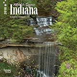 Indiana, Wild & Scenic 2018 7 x 7 Inch Monthly Mini Wall Calendar, USA United States of America Midwest State Nature