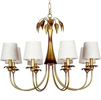 Gut Kronleuchter 8 Licht Tuch Lampe Abdeckung Bronze Eisen Kronleuchter Moderne  Einfache Kreative Wohnzimmer Schlafzimmer Lampe