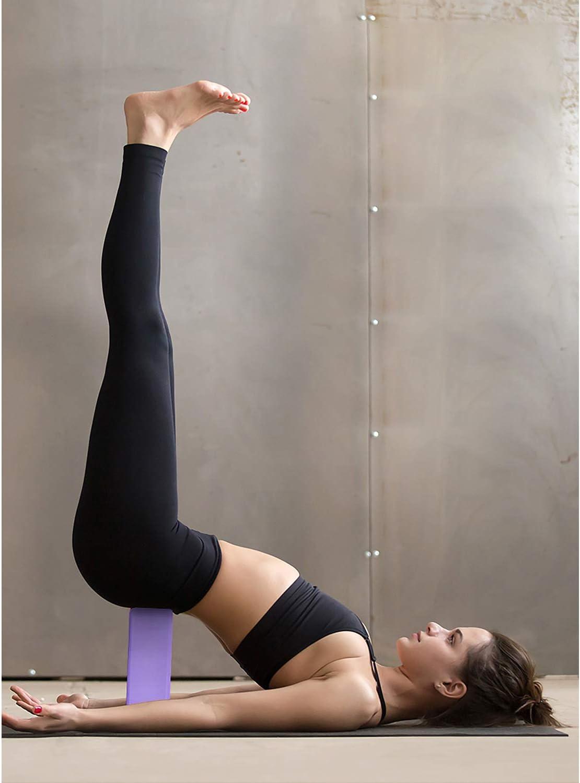 Meditation,High Density EVA Non-Slip Surface Soft and Light Yoga Blocks 2 Pack for Women Home Yoga Beginners Practices Class Studio Accessories,Pilates