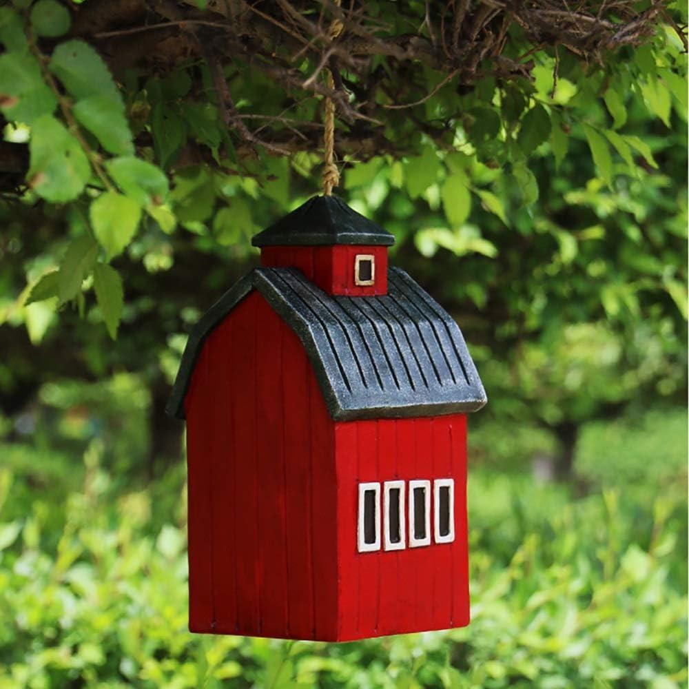 PQXOER Casas para Pájaros Casas de pájaros Bird Nest Hut Colgando del colibrí por Pintado a Mano Colgando Fuera Decorativo Birdhouse Yard decoración de jardín Casita para Pájaros