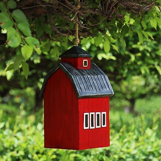 PQXOER Casas para Pájaros Casas de pájaros Bird Nest Hut Colgando del colibrí por Pintado a Mano Colgando Fuera Decorativo Birdhouse Yard decoración de jardín Casita para Pájaros: Amazon.es: Hogar
