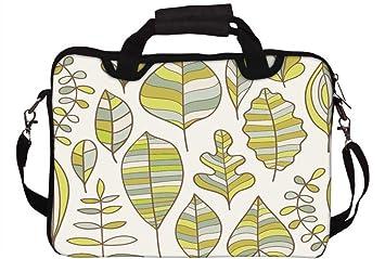 Snoogg Multicolor hojas ordenador portátil Netbook Tablet PC de hombro bolsa funda soporte para Apple iPad