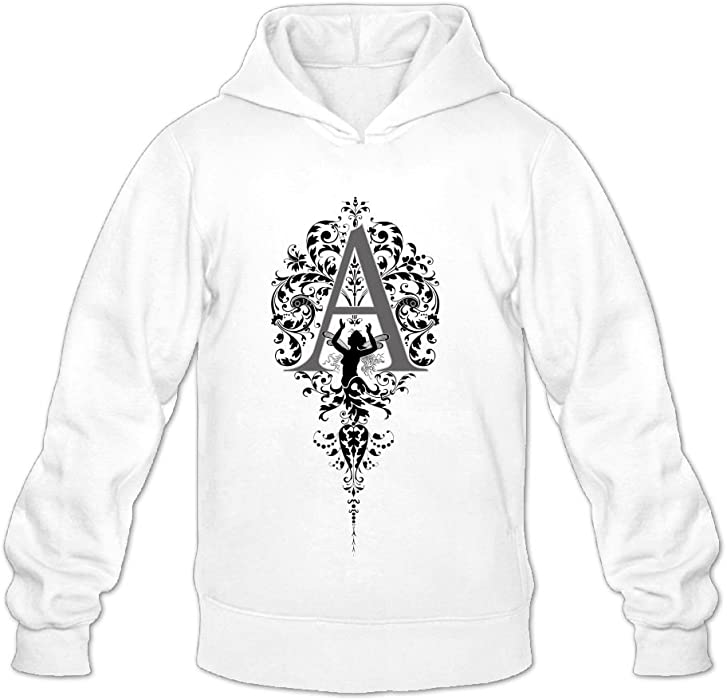 2a2413d17 Anthra Letter A Creative Pattern Hooded Sweater Jacket Personalized Cool  White Small at Amazon Men's Clothing store: