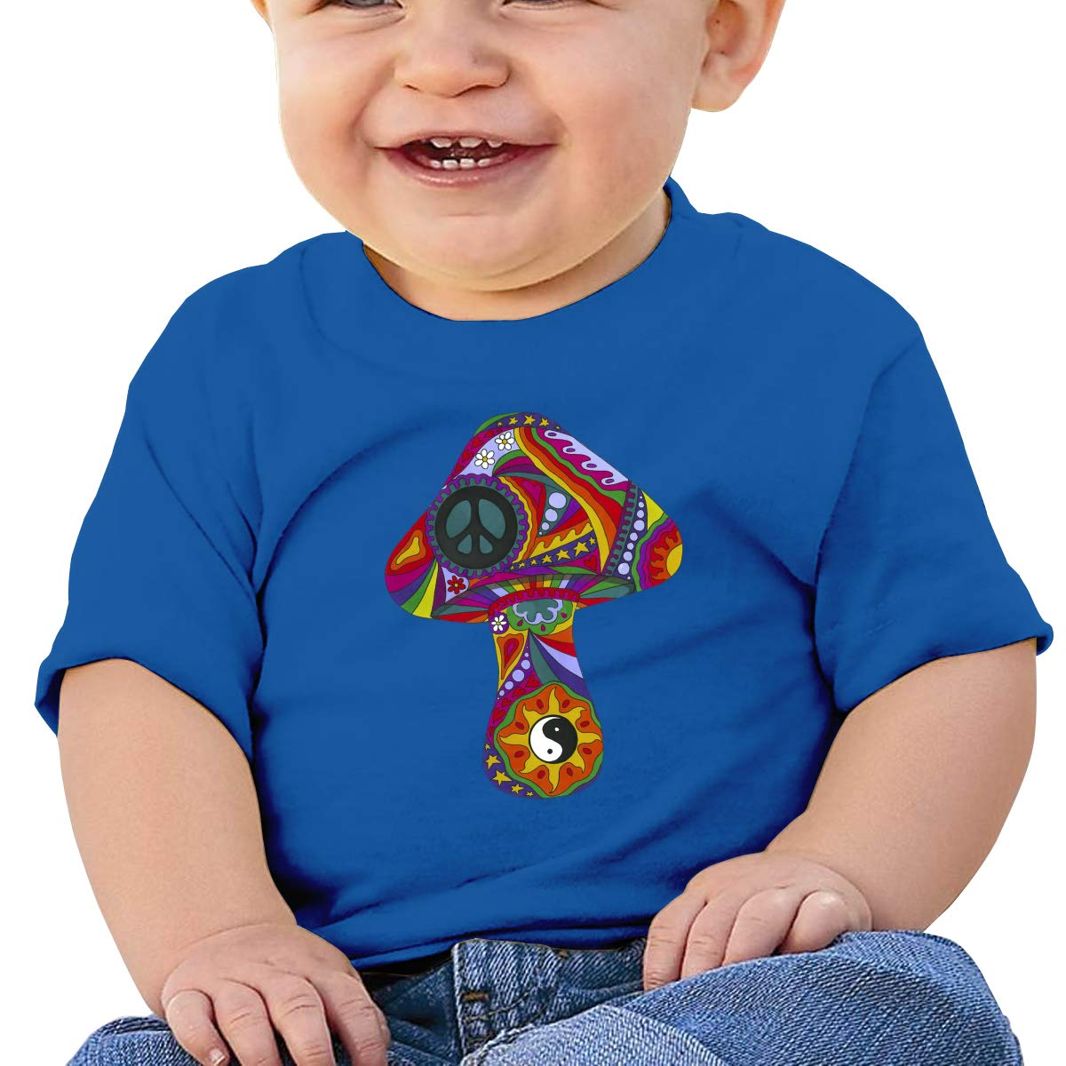 XHX403 Psychedelic Mushroom Infant Kids T Shirt Cotton Tee Toddler Baby 6-18M