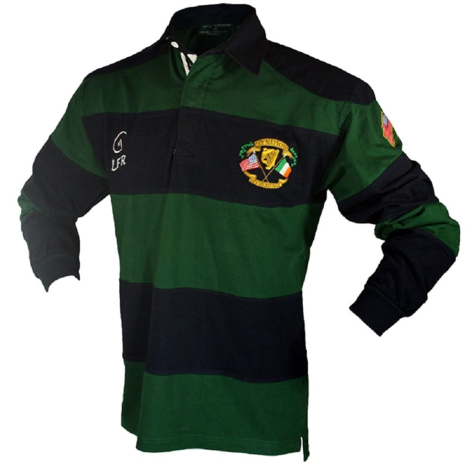 5dc49c29715dd Amazon.com  Silky Sullivan Collection Men s Long Sleeve Ireland Rugby  Jersey (XXL)  Clothing