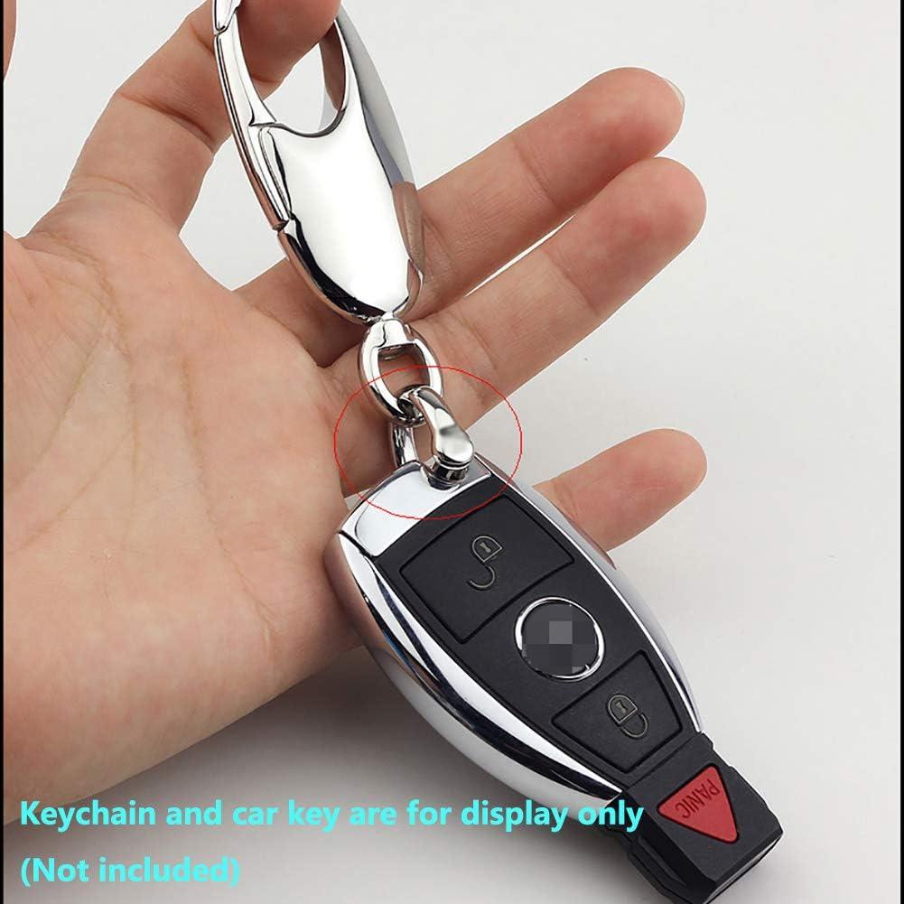 TISUR D-Rings with Screw Shackle Horseshoe U Shape Key Ring DIY Leather Craft Purse Polished 2 pcs