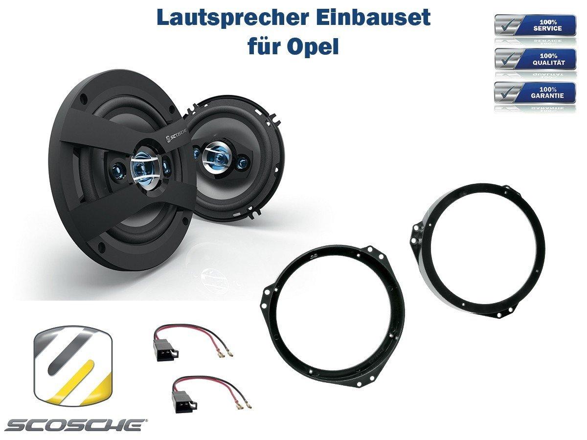 cable para Opel Signum altavoz frontal puertas Altavoces anillos adaptador 165 mm
