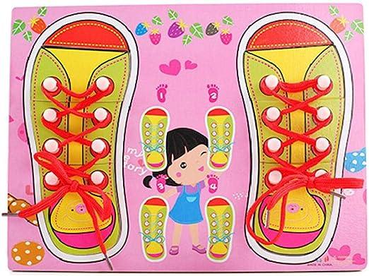 AOLVO Aprende a atar zapatos para niños, habilidades básicas ...