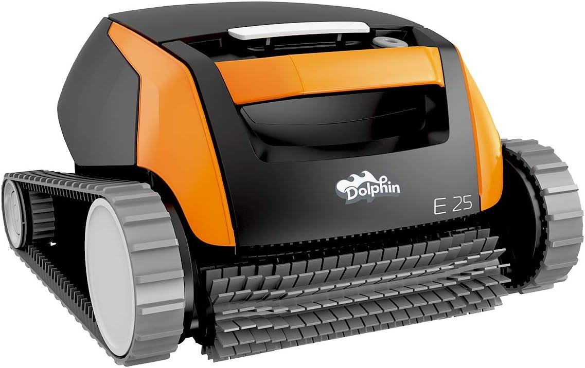Dolphin E25 – Robot eléctrico de piscina para limpiar fondos y paredes, programable