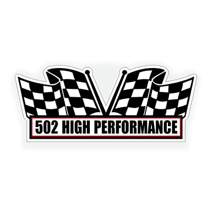 Solar Graphics USA Air Cleaner Engine Decal - 502 High Performance For  ZZ502 Chevy Chevrolet Crate Motor For Muscle Car - 5x2 25 inch