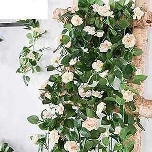 230Cm Artificial Flower Vines Wedding Decor Rose Fake Flowers Rattan String Garden Hanging Garland Silk Flower Plant Leaf 47