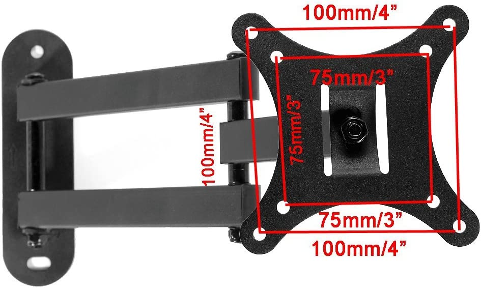 Henxlco Full Motion Articulating Tilt Swivel TV Wall Mount Bracket Flat Screen Panel Monitor LCD LED 14 17 19 20 22 23 24