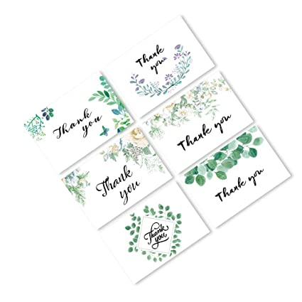 Buy Toymytoy 36pcs Thank Card Greeting Cards Leaf Picture With Envelope Online At Low Prices In India