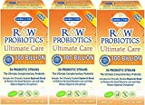 Raw Probiotics Ultimate Care-100 Billion Garden of Life 30 VCaps (30 x 3 )