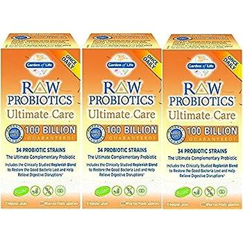 Raw probiotics ultimate care 100 billion garden of life 30 vcaps 30 x 3 health for Garden of life raw probiotics ultimate care