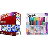 Sharpie Permanent Markers Ultimate Collection, Fine and Ultra Fine Points, Assorted Colors, 72 Count & Electro Pop Permanent Markers, Fine Point, Assorted Colors, 24 Count
