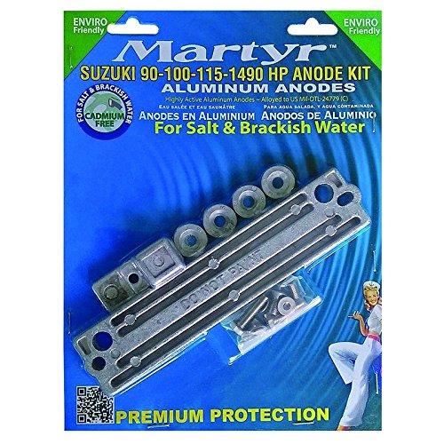 MARTYR ANODES Martyr Suzuki 90 100 115 140 HP Outboard Anode Kit Aluminum CMSZ90140KITA