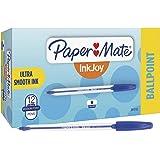 Paper Mate 2013155 InkJoy 50ST Ballpoint Pens, Medium Point (1.0mm), Blue, Box of 12 Pens