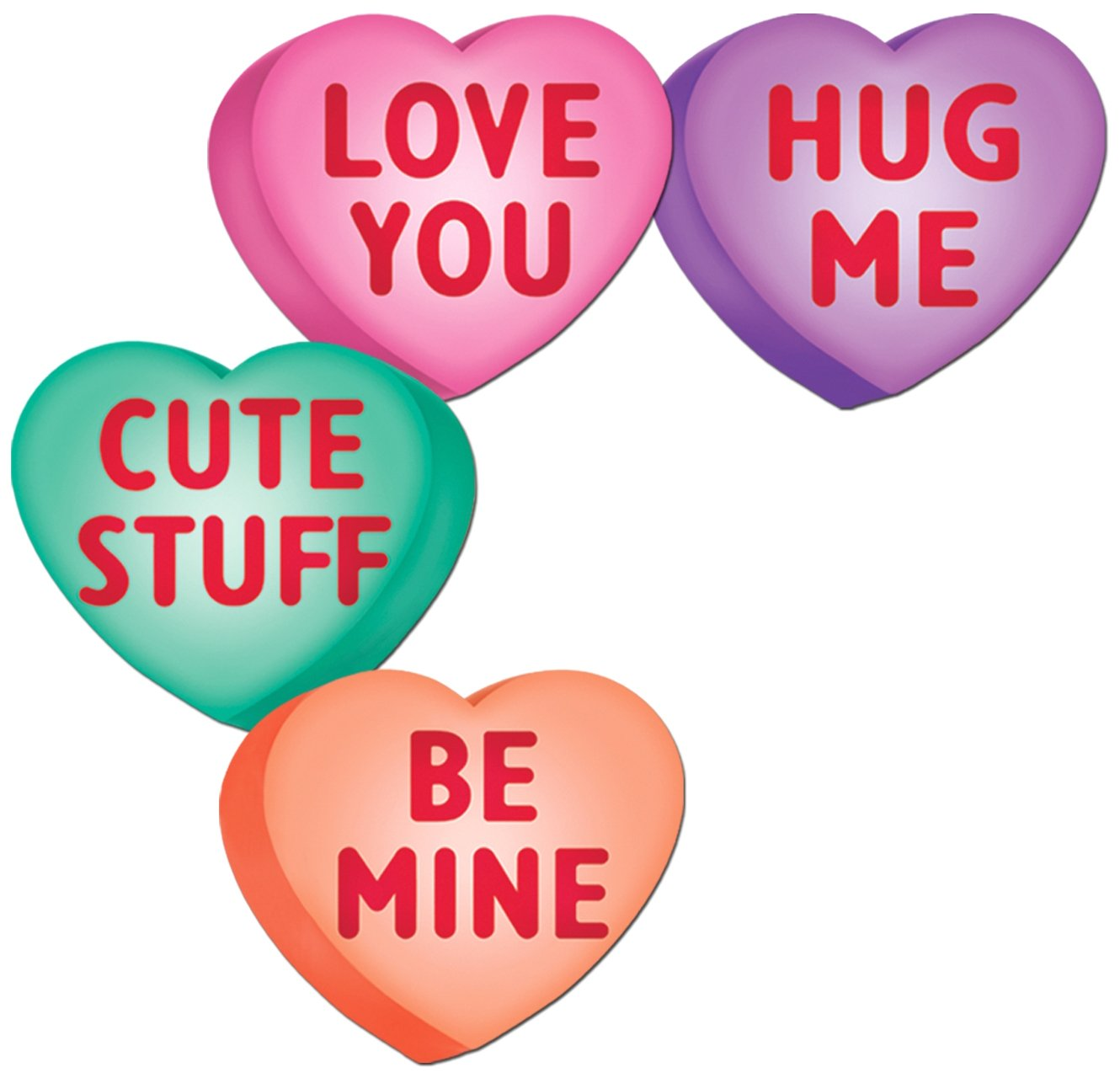 Beistle  77748  Candy Heart Cutouts  Pack of 24