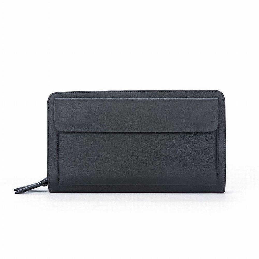 Mal Rad Spezielle Herren Taschen Herrenhandtaschen Leder Geschäft Groß Kupplung Weiche Leder Clutch Taschen Handtaschen , schwarz