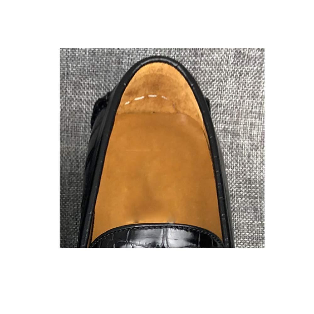 Männer Persönlichkeit Leder Schuhe Casual Korean Herbst Faul Schuhe Persönlichkeit Männer Retro Breathable Bequeme schwarz 1a698a