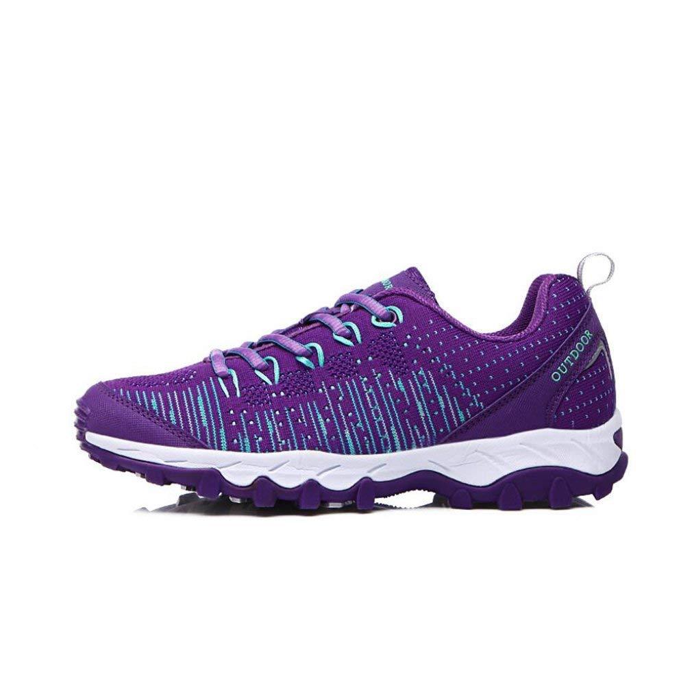 Oudan damen Turnschuhe Wanderschuhe - Leichte Wanderschuhe Atmungsaktiv Lace up All Season Schuhe - Für Trekking Gym & Running (Farbe   EIN Größe   37) (Farbe   On Größe   37)