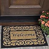 """OTTOMANSON Doormat, 20"""" X 30"""", Beige Welcome"""