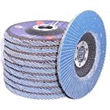 """Canadian Tool and Supply (10-pack) 5-Inch x 7/8"""" Zirconia Flap Discs 80-Grit Type-29 Conical Angle Grinder Wheels (10xFD-5-Z#80-T-29)"""