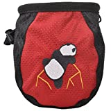 AMC Fiend Climb X Rock Climbing Addict Chalk Bag with Belt, 1-Red