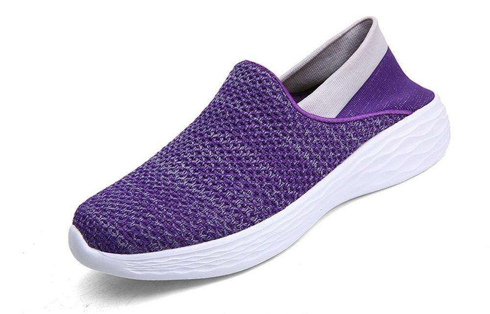 XIE Verano Primavera Otoño Pareja Volando Zapatos Tejidos Cómodo Transpirable Volando Tejido Zapatillas Moda Joker Calcetines de Fitness Ligero 35-40, Purple, 40 40|purple
