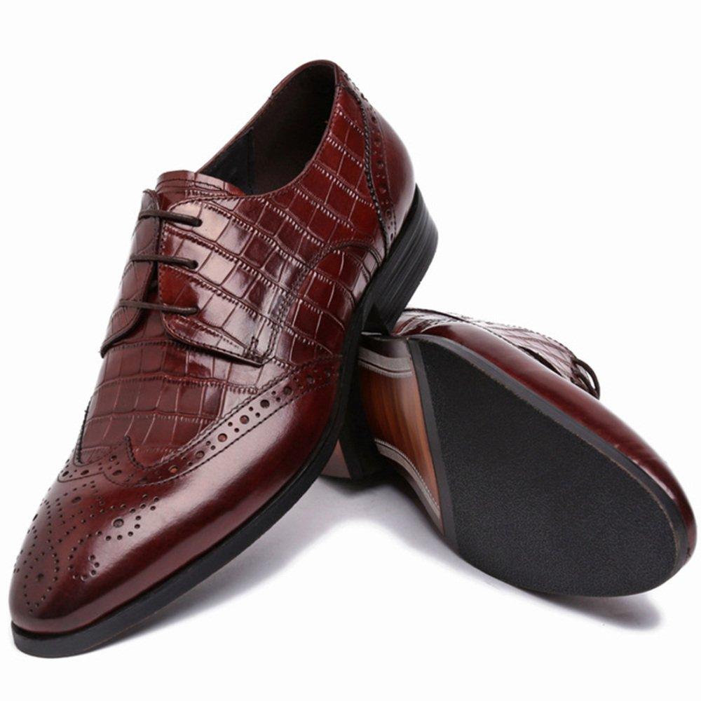MYXUA MYXUA MYXUA Herren Klassische Spitze Oxford Schuhe Offizielle Hochzeit Schuhe Mode Atmosphäre dd890a
