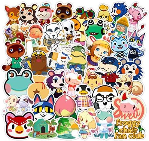 SZENEST Animal Crossing Stickers, 100 Pcs Popular Game Stickers Animal Crossing New Horizons Stickers for Water Bottle Laptop,Waterproof Vinyl Stickers Decals Gift for Kids, Girls, Teens