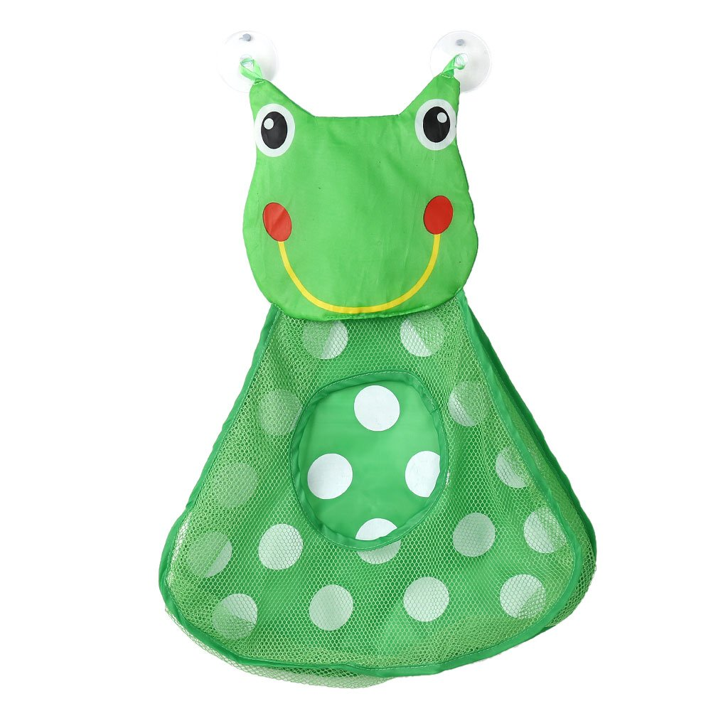 Jigang 1Pc Large Baby Bath Toy Animal Mesh Net Storage Bag Organizer Holder Suction Cup Bag For Home Bathroom Bathtub (Duck)