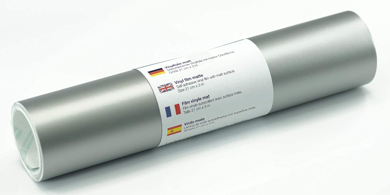 Lámina de tatuaje de pared mate 21 cm x 3 m - elección de colores, Color:Plata: Amazon.es: Hogar