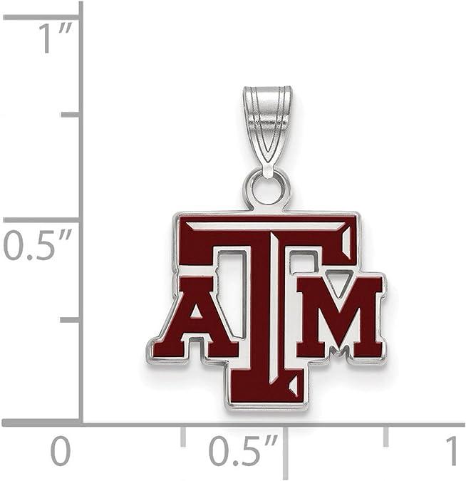 Sterling Silver Texas A/&M University Small Enamel Pendant by LogoArt